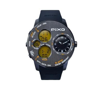 腕時計PX-5 GUN+YELLOW - PIXO