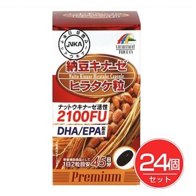 納豆キナーゼ - ユニマットリケン ヒラタケ粒 90粒×24個セット