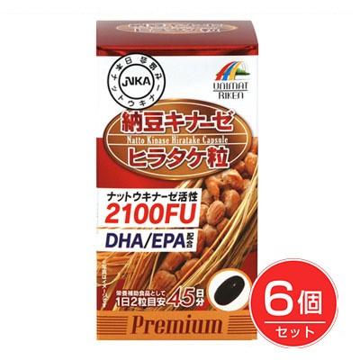 納豆キナーゼ ヒラタケ粒 90粒×6個セット - ユニマットリケン
