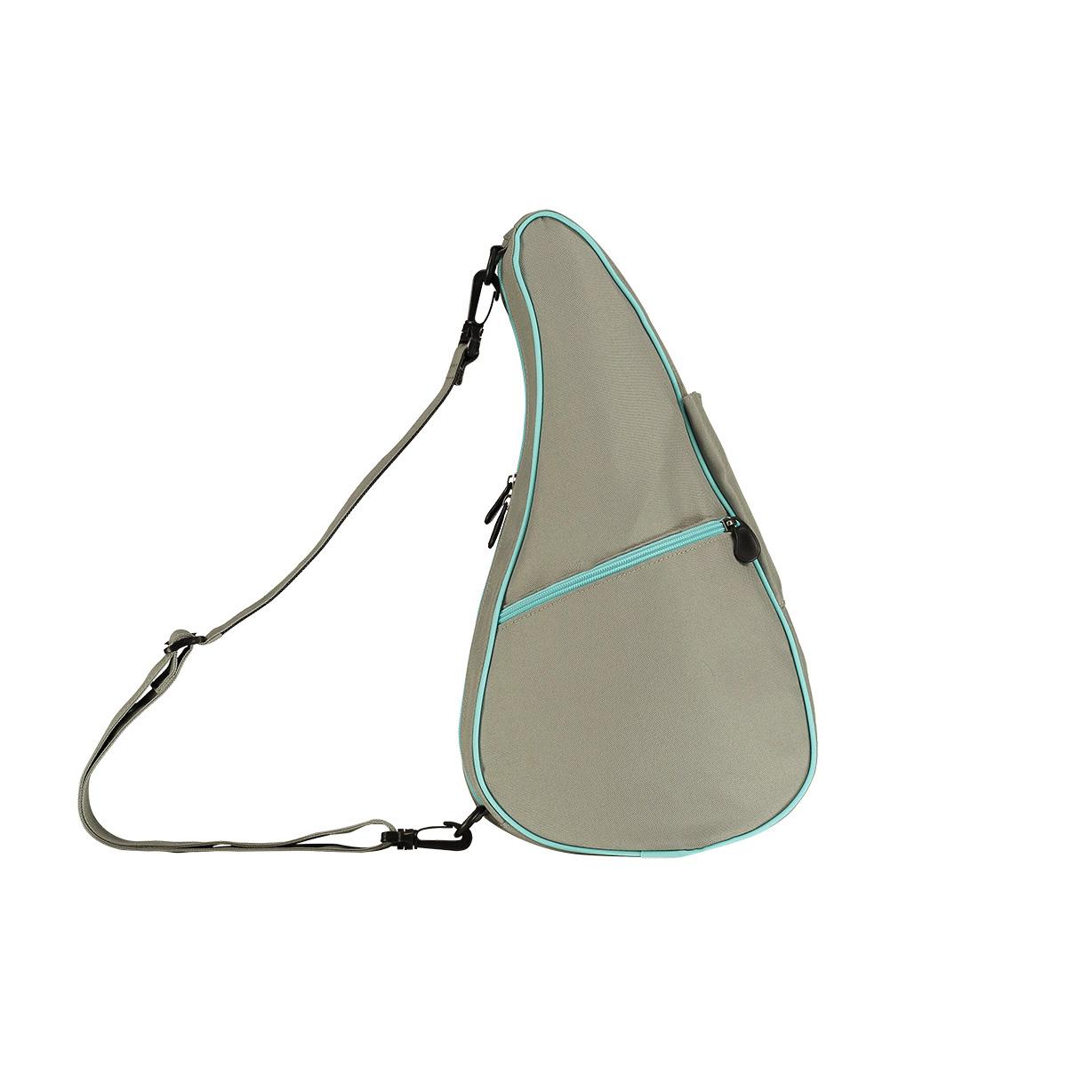 Healthy Back Bag/ヘルシーバックバッグ/ショルダーバッグ/ボディバッグ/旅行バッグ/軽量/レディース/メンズ 《限定ポーチ付》 ヘルシーバックバッグ リバーシブル Sサイズ ドーブグレー/アクア