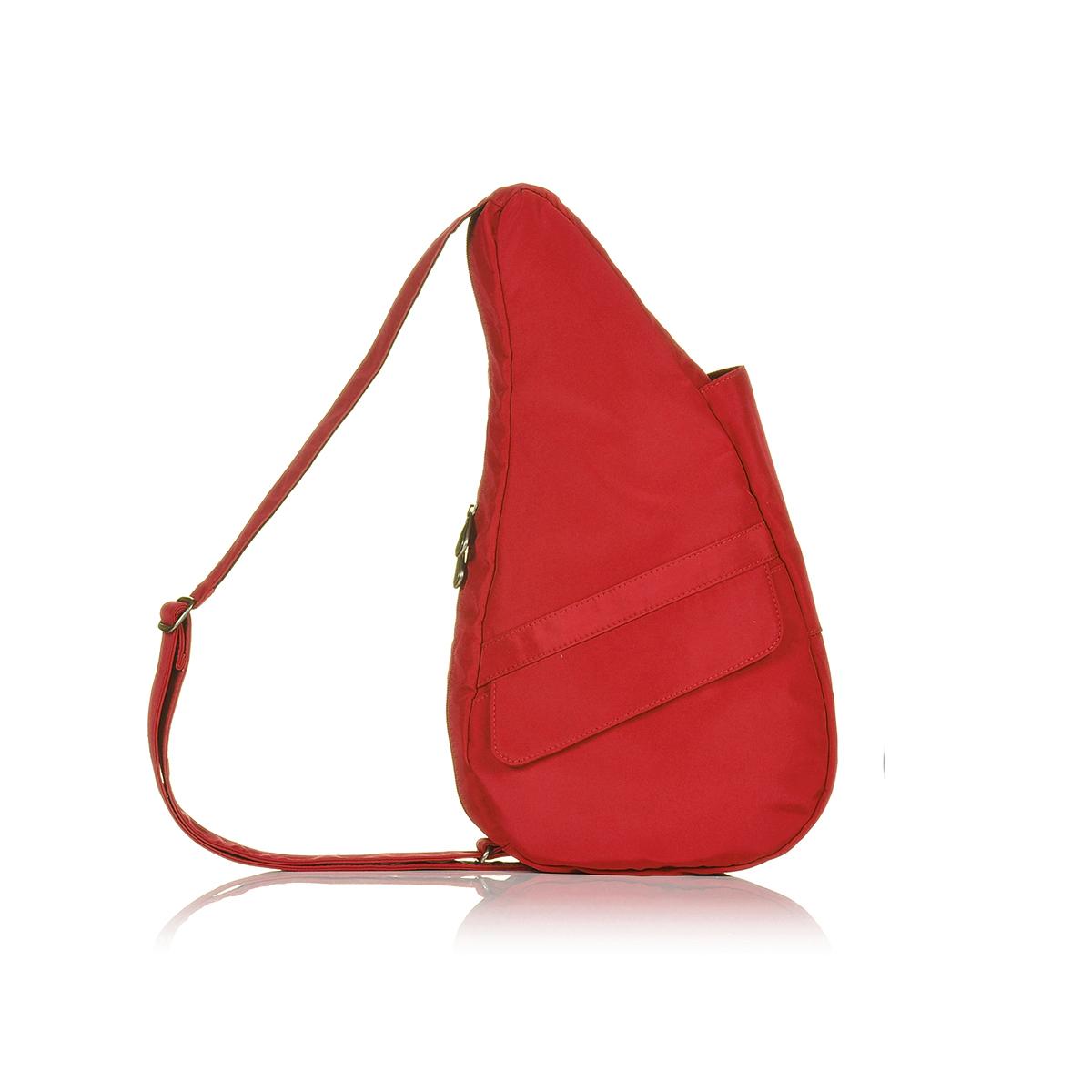 Healthy Back Bag/ヘルシーバックバッグ/ショルダーバッグ/ボディバッグ/旅行バッグ/軽量/レディース/メンズ 《限定ポーチ付》 公式ストア ヘルシーバックバッグ マイクロファイバー Sサイズレッド