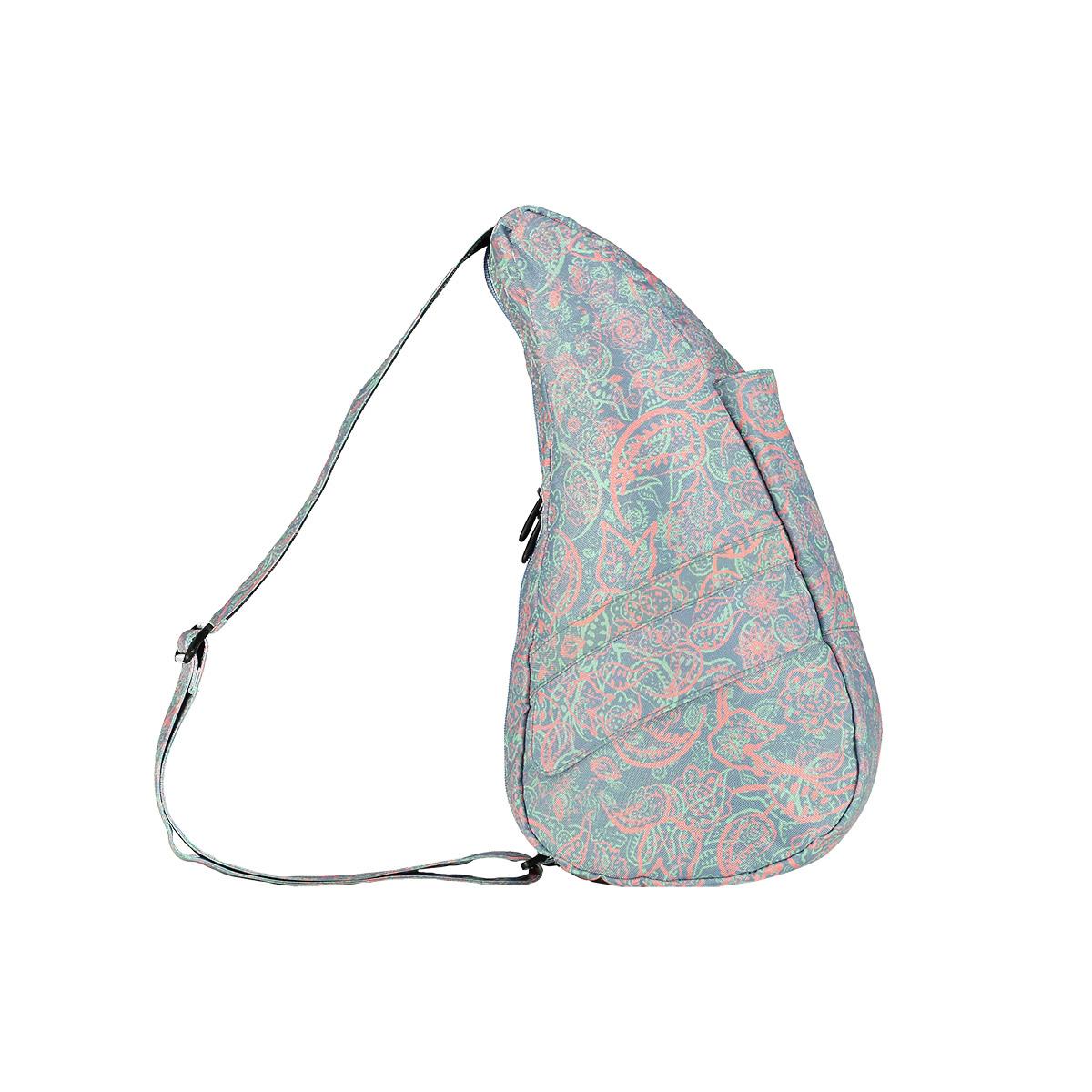 Healthy Back Bag/ヘルシーバックバッグ/ショルダーバッグ/ボディバッグ/旅行バッグ/軽量/レディース/メンズ 《限定ポーチ付》 公式ストア ヘルシーバックバッグ プリント Sサイズ ペイズリー ミスティーブルー