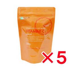 【飲用】ビタミンC(L-アスコルビン酸) 粉末 200g×5袋セット★成功のカギは基本栄養素から【美容 健康 サプリ サプリメント パウダー】