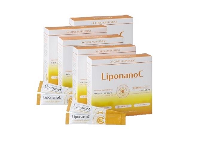 【LiponanoC】リポナノC 1000mg配合 30包 【5箱セット】リポソームビタミンCは「リポナノC」を選ぶ時代[パウダータイプ]