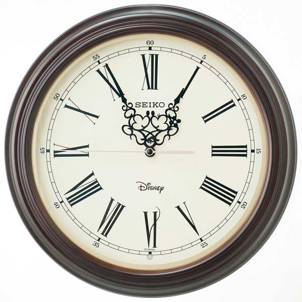 ディズニー 掛け時計 Disney ミッキーマウス&ミニーマウス 掛時計 電波時計 おしゃれ 木枠 セイコー クロック SEIKO CLOCK 大人ディズニー FS507B 正規品【Disneyzone】【P02】【ギフト】