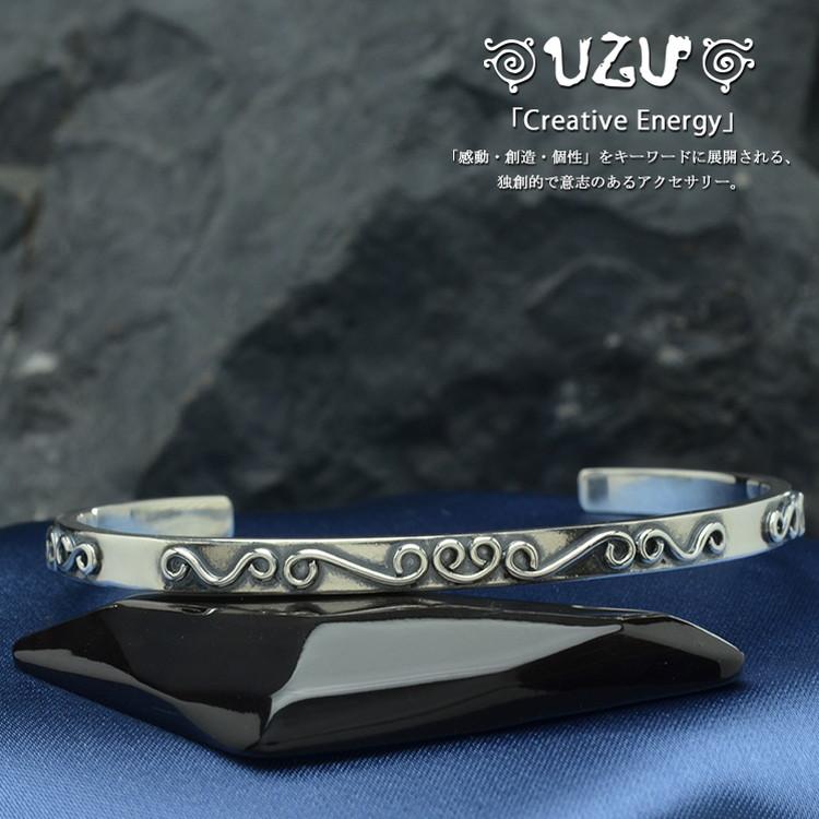 ウズ UZU ブレスレット メンズ ジュエリー アクセサリー シルバー メンズ ブレス イブシ仕上げBU-75-A 【ni】【ギフト】