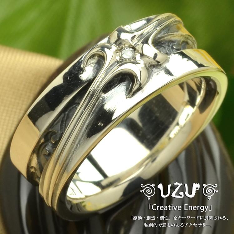 ウズ UZU 指輪 レディース RI-1027 ジュエリー アクセサリー シルバーリング ダイヤモンド イブシ仕上げ【ni】【ギフト】