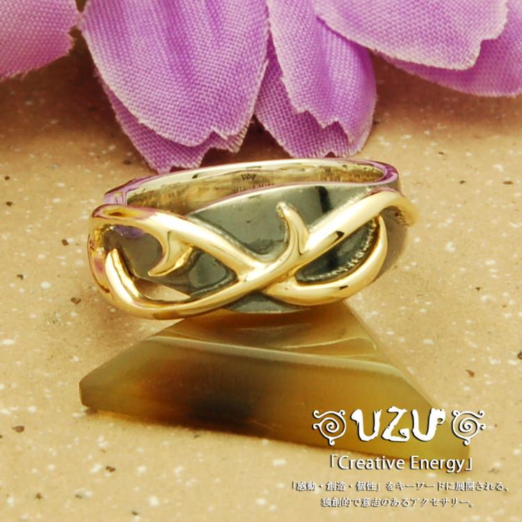 ウズ UZU 指輪 レディース RI-1231 ジュエリー アクセサリー シルバー K10YG リング 唐草【ni】【ギフト】