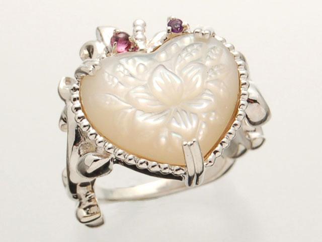 ウズ UZU 指輪 レディース RI-1382 ジュエリー アクセサリー シルバーリング MOP(表彫り) RGA AM【ni】【ギフト】