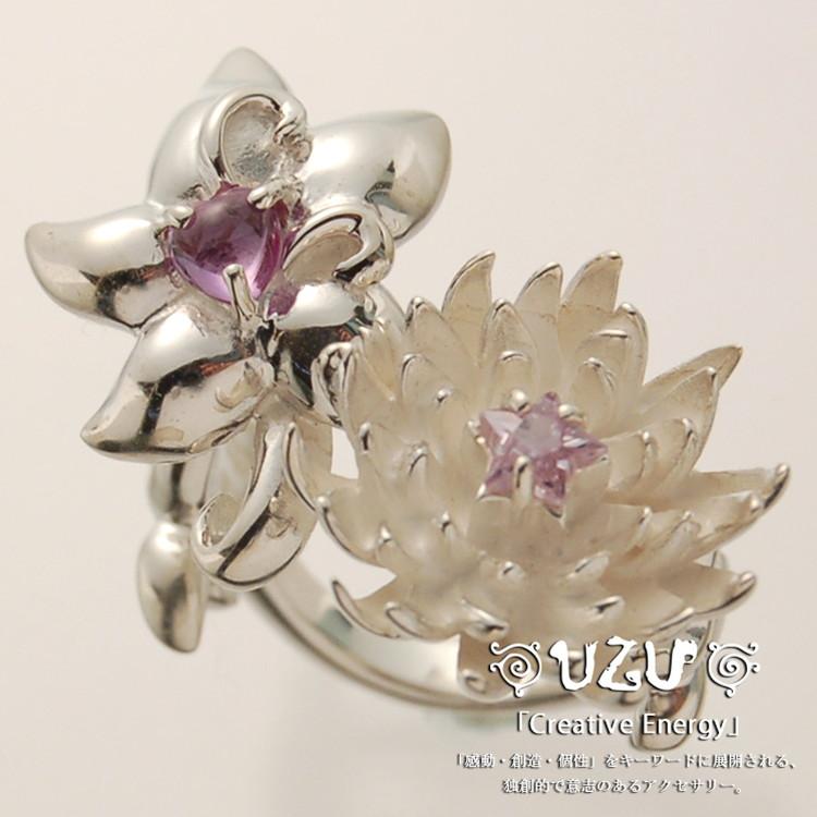 ウズ UZU 指輪 レディース RI-1395 ジュエリー アクセサリー シルバー リング フラワー CAX CCCZ【UcateH】【ni】【ギフト】