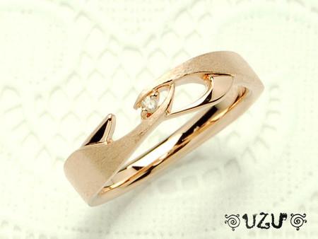 ウズ UZU 指輪 レディース RI-1459-PG DR ジュエリー アクセサリー シルバー (部分ヘアライン) ダイヤ リング ピンクゴールドコーティング【CP30】【P02】【ni】【ギフト】