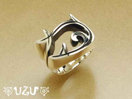 ウズ UZU 指輪 レディース RI-513 ジュエリー アクセサリー シルバーリング いぶし仕上げ【ni】【ギフト】