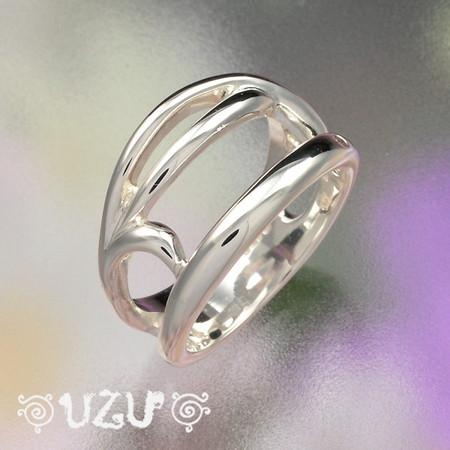 ウズ UZU 指輪 レディース RI-541 ジュエリー アクセサリー シルバーリング 鏡面仕上げ カラCZ シャンパンCZ【P02】【ni】【ギフト】