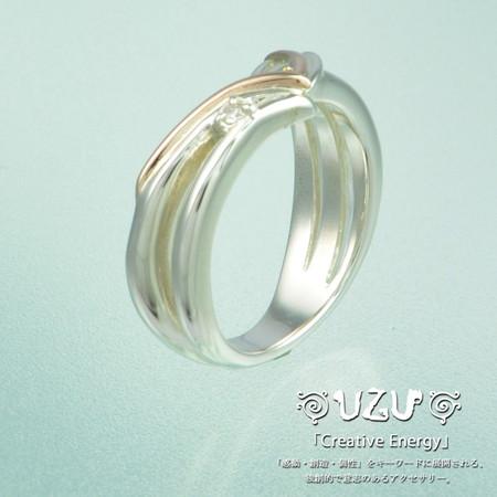 人気のUZU ウズ UZU 指輪 レディース RI-766G ジュエリー アクセサリー 爆買い送料無料 トラスト シルバー K10 ni 鏡面仕上げ リング ギフト ダイヤモンド