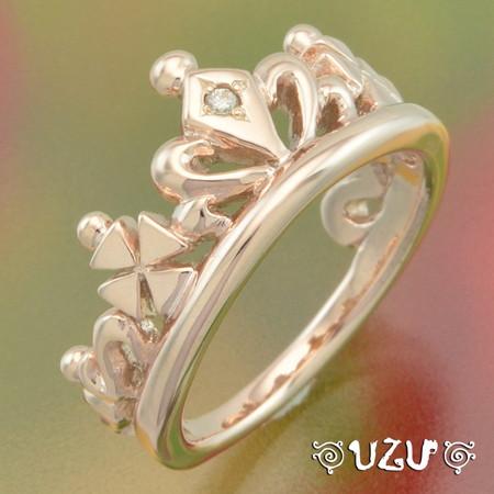ウズ UZU 指輪 レディース RI-879P ピンクシルバー ジュエリー アクセサリー リング 鏡面仕上げ ダイヤモンド【ni】【ギフト】