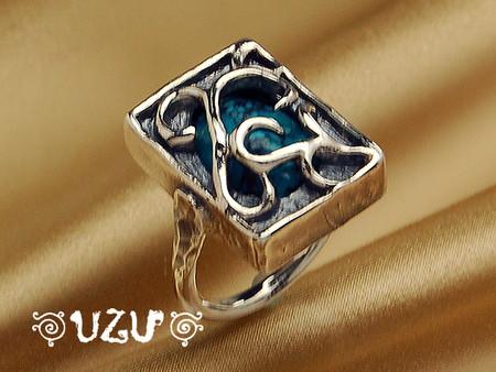 ウズ UZU 指輪 レディース RI-938 ジュエリー アクセサリー シルバー イブシリング ターコイズ【ni】【ギフト】