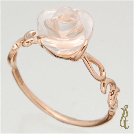 ウズ イスト UZU IST 指輪 レディース K10PG リング 薔薇モチーフ IR-126 【ni】【ギフト】