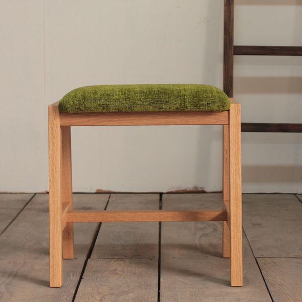 ファブリックスツール 北欧 チェアー 椅子 モダン 無垢材 布張り オーダー