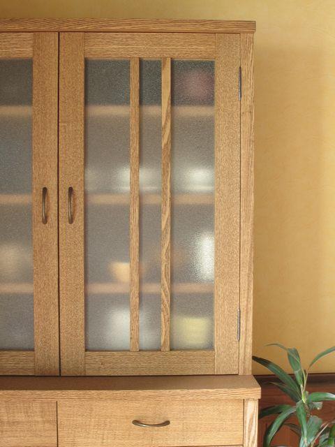 カップボード/タモ材 北欧 モダン ナチュラル 家具 無垢 食器棚 キャビネット シェルフ オーダー キッチン