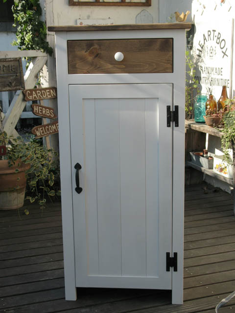 ツートンキャビネット パイン材 ナチュラル ホワイト インテリア 家具 無垢 木製 本棚 収納