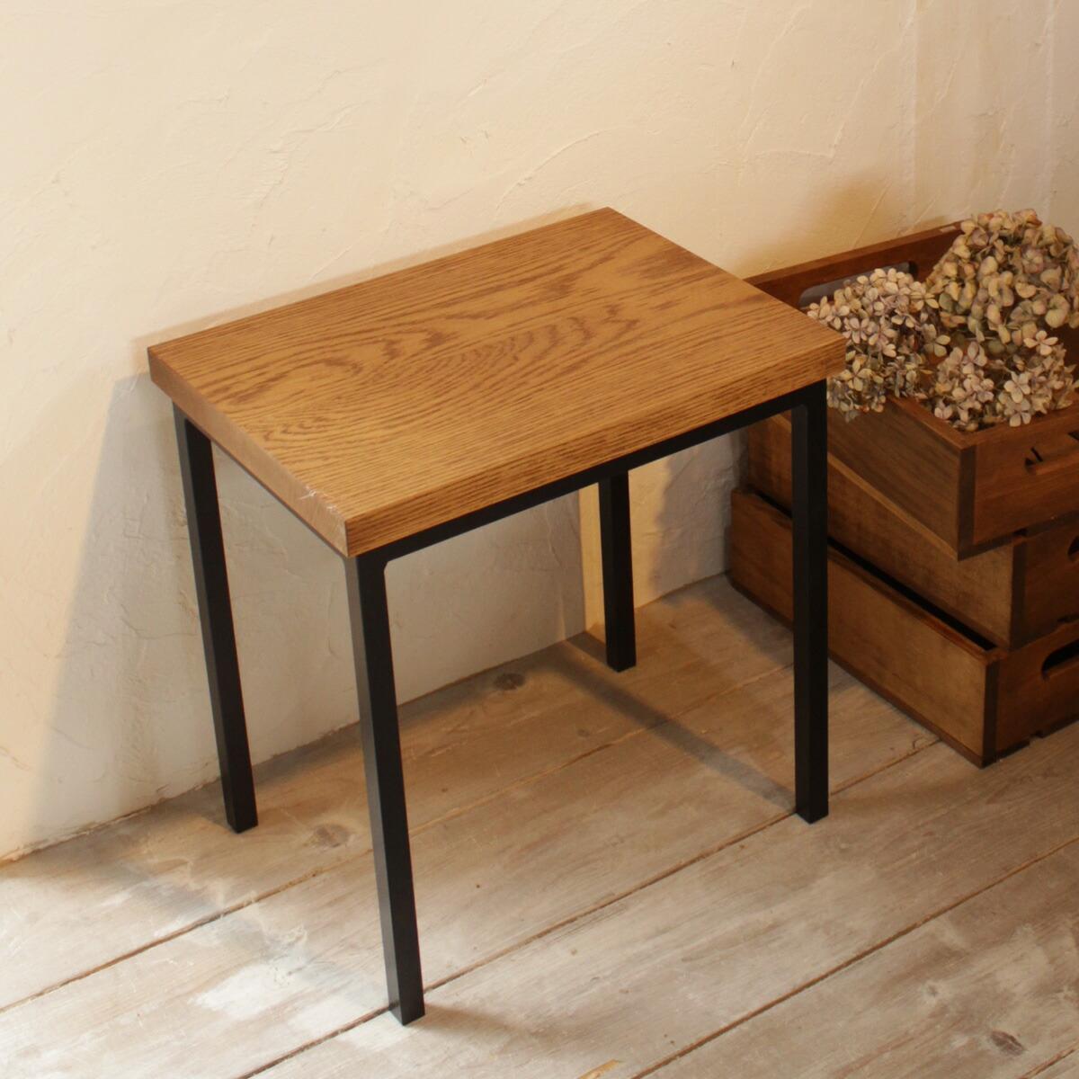 スツール イス 木製 アイアン×オーク材 椅子送料無料