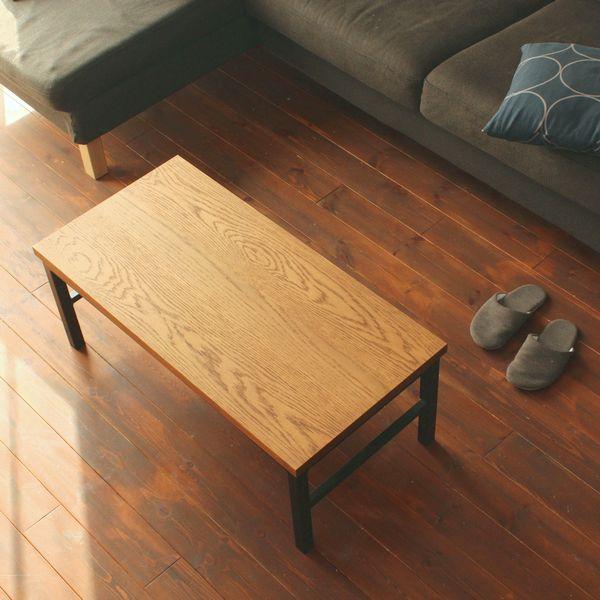 アイアンローテーブル/オーク材 インダストリアル アイアン アンティーク 家具 リビングテーブル センターテーブル 北欧 ビンテージ