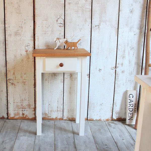 期間限定クーポン発行中 コンパクト ミニテーブル 木製 (3色) パイン材