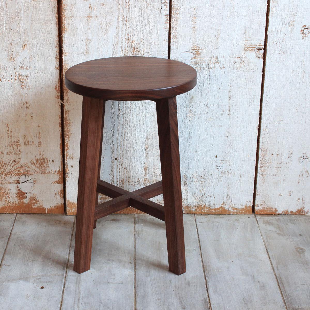 スツール チェア 木製 おしゃれ 北欧 椅子 オーク材 ウォールナット材 送料無料