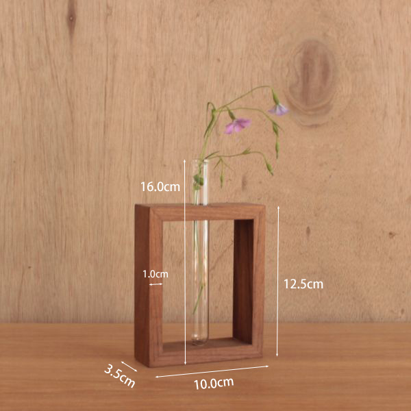 The flower base single vase small vase test tube wooden modern North European decorations