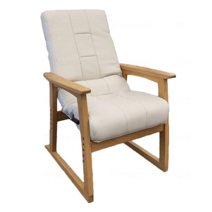 【介護用品 福祉用具 生活支援 運動不足 トレーニング】円背椅子やすらぎ2アイボリー