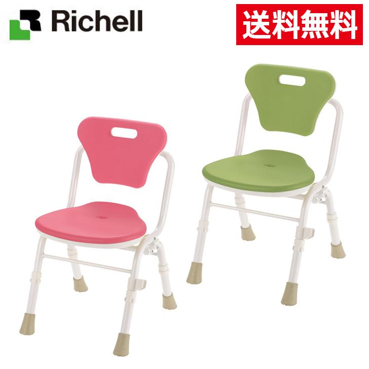 リッチェル やわらかシャワーチェアクレオ 折りたたみ(防カビプラス)背付390 入浴いす シャワーチェア 介護 椅子 風呂 シャワーベンチ