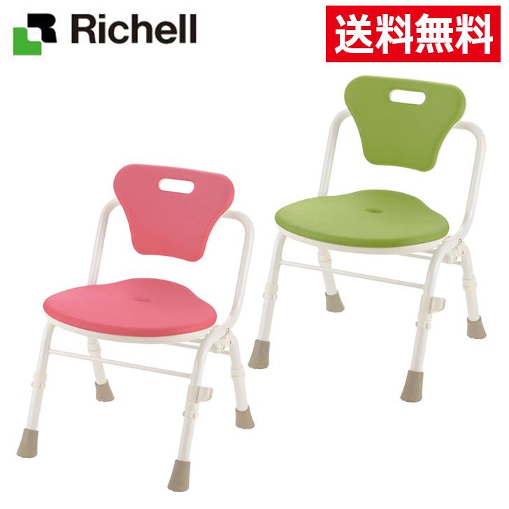 リッチェル やわらかシャワーチェアクレオ 折りたたみ(防カビプラス) 背付460 入浴いす シャワーチェア 介護 椅子 風呂 シャワーベンチ