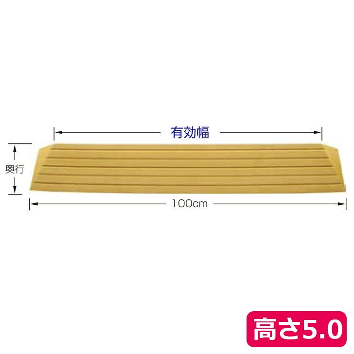 【バリアフリー リフォーム 住宅改修 お掃除ロボ】タッチスロープ 100 / TS100-50 高さ5.0cm