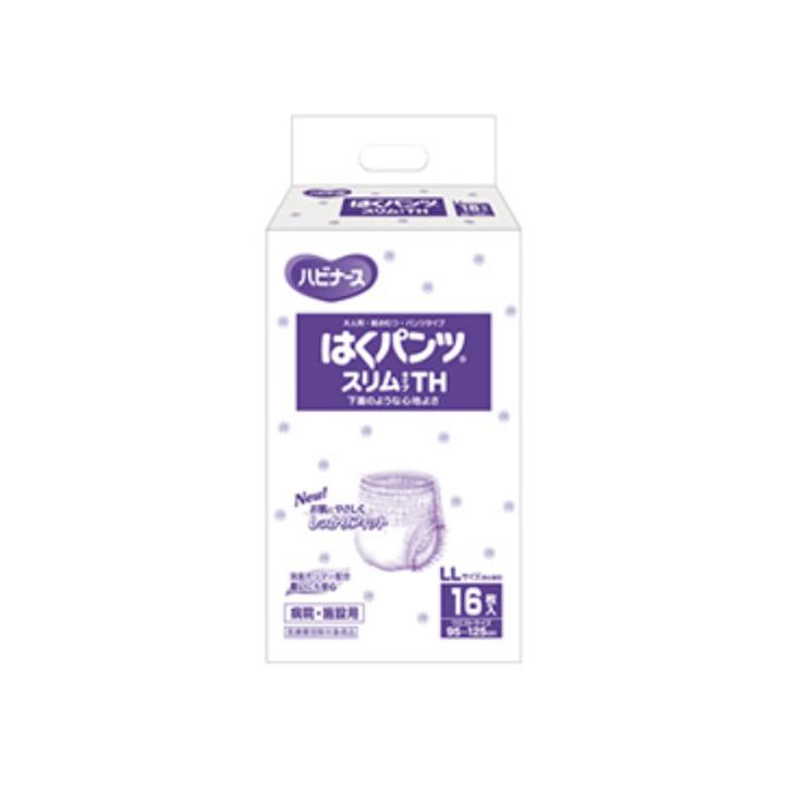 【介護用品 失禁 尿とり 尿漏れ 紙パンツ はくパンツ もれ 】はくパンツスリムタイプTH / 104001AW LLサイズ 16枚 1ケース6袋