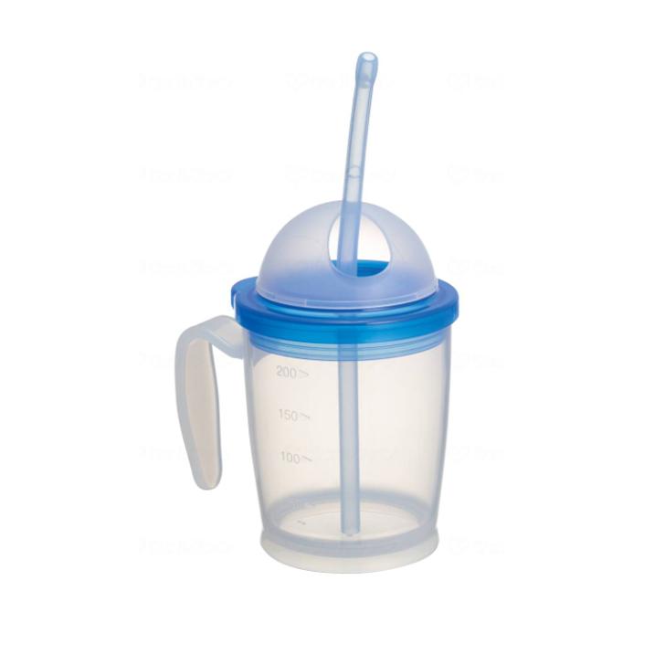 人気の定番 介護用品 格安激安 福祉 介護食器 マグカップ 軽い ストロー フタ付 介護用 食事 コップ ストロー付カップ 10618 ハビナース 食器 軽量