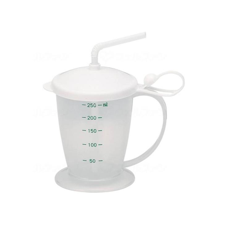 介護用品 福祉 大注目 介護食器 マグカップ 軽い ストロー フタ付 通販 食器 コップ 介護用 軽量 300mL 食事 安定ストローコップ