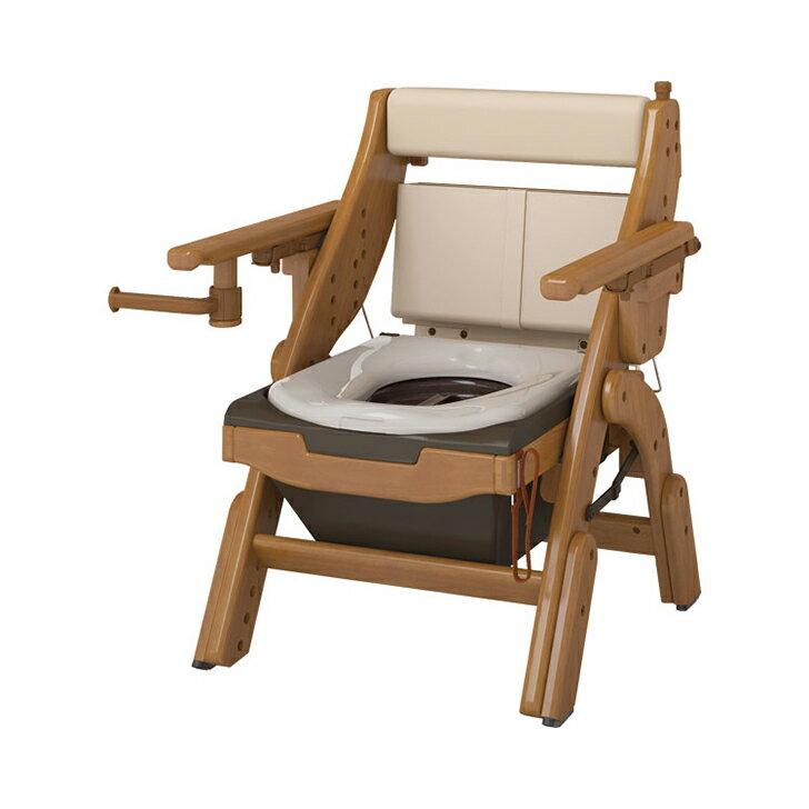 折りたたみ家具調トイレ 標準便座 / 533-830