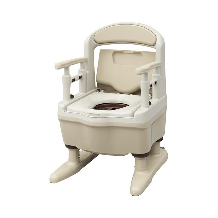 【ポータブル 排泄 消臭 簡易 介護 福祉】アロン化成 安寿 ポータブルトイレ ジャスピタ ソフト・快適脱臭