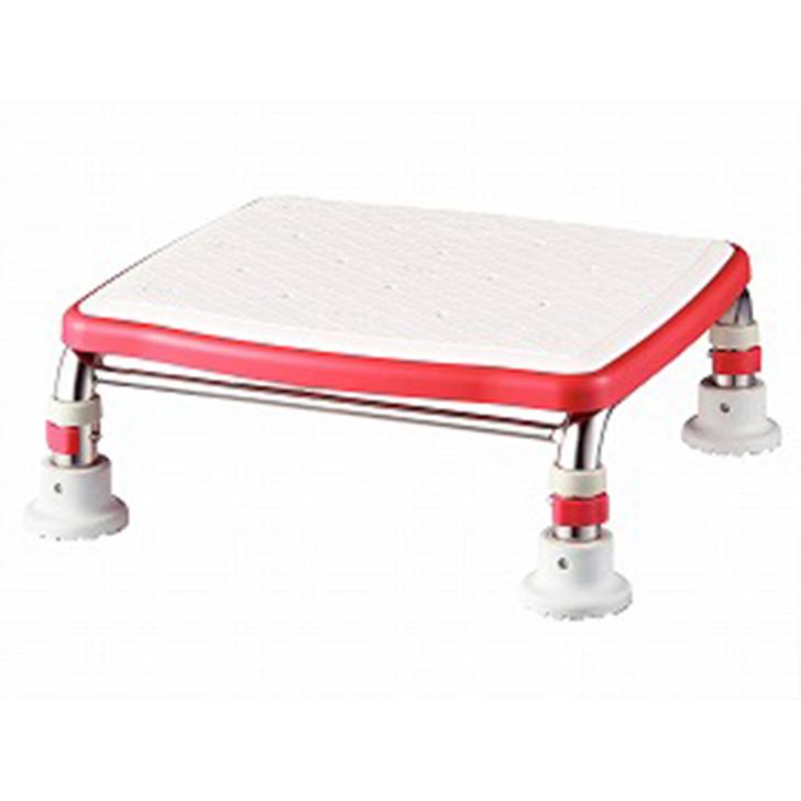 【介護 椅子 風呂 シャワー チェアー 浴槽台】安寿 ステンレス製浴槽台Rジャストソフト 12-15 / 536-501 レッド