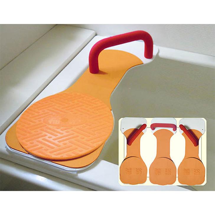 【介護 浴槽台 バスボード 移乗 入浴介助】サテライト 福浴 回転バスボード  L / FKB-01-L