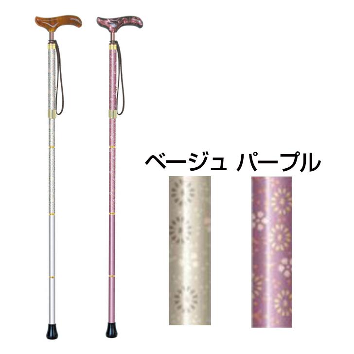 【杖 軽量 おしゃれ プレゼント 自立】シナノ カイノスT-1花KOMON-EX