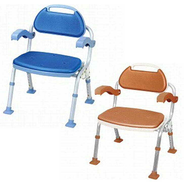 【介護 椅子 風呂 シャワー チェアー】折りたたみシャワーベンチ ソフテック 肘掛け付き