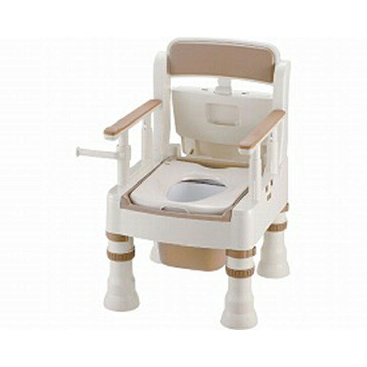 【ポータブルトイレ ポータブル 排泄 消臭 簡易 介護 福祉】リッチェル ポータブルトイレ きらく ミニでか 標準タイプ MS型