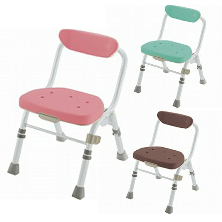 【介護 椅子 風呂 シャワー チェアー】折りたたみシャワーチェア M型 背付H