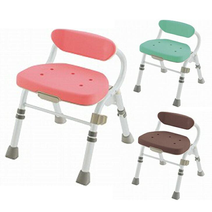 【介護 椅子 風呂 シャワー チェアー】折りたたみシャワーチェア M型 背付L