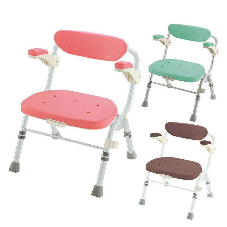 【介護 椅子 風呂 シャワー チェアー】折りたたみシャワーチェア R型 肘掛付