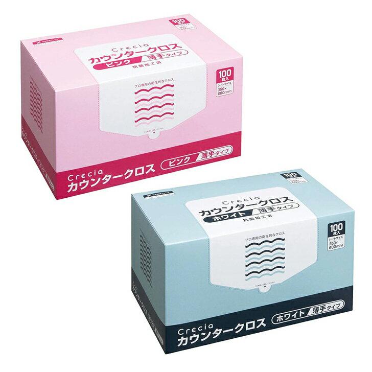 【日本製紙クレシア】クレシア カウンタークロス薄手タイプ 100枚×6箱
