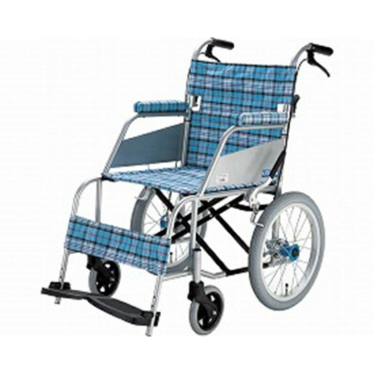 【片山車椅子】KARL(カール)介助式 KW-903B / 座幅40cm スカッシュ・ブルー