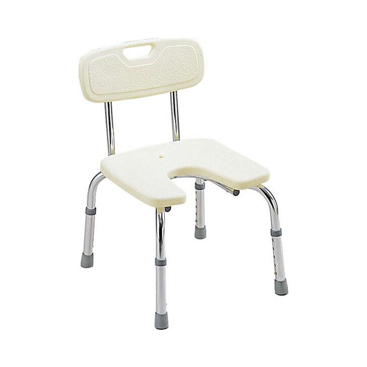 【入浴いす シャワーチェア 介護 椅子 風呂 シャワーベンチ 浴槽台】ミキ バスベンチU型 / MYA-01031 背付