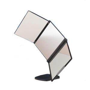NEWスリーウエイ回転ミラー MX-360ZS 三面鏡 鏡 ミラー 卓上ミラー 回転ミラー 回転三面鏡 360度 回転 卓上 大型 後頭部 チェック